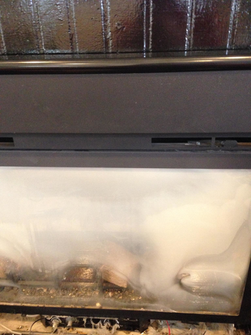 how to get your fireplace glass clean