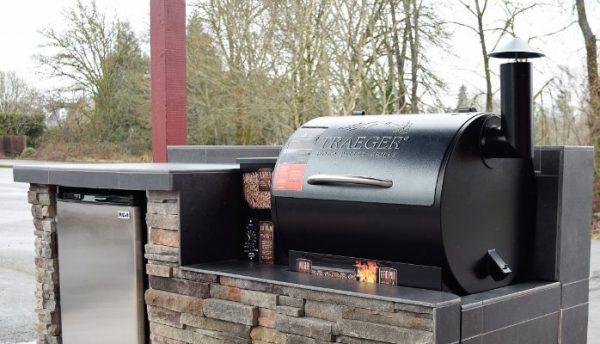 Traeger grill and smoker.
