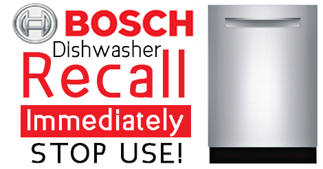 Sub Zero Appliances >> Dishwasher Recall for Bosch, Gaggenau, Kenmore Elite