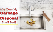 why does my garbage disposal stink