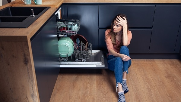 kitchenaid dishwasher smells bad